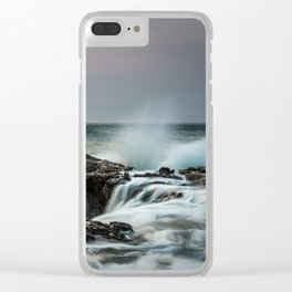 Thor's Well Sunset Clear iPhone Case