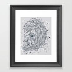 I only surf on Comets Framed Art Print