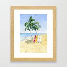 Tropical View Framed Art Print