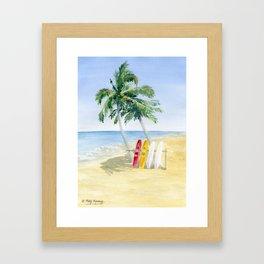Tropical View Framed Art Print