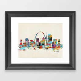 saint louis missouri skyline Framed Art Print