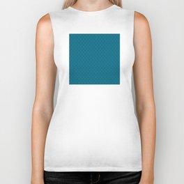 Blue (Bleu) Tres Petit Geometric Pattern Biker Tank
