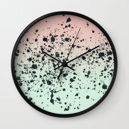 Mint, Blush, Back. Wall Clock