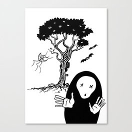 The tree that sees everything II - El árbol que todo lo ve II. Canvas Print