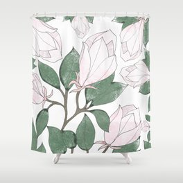 Magnolia. Shower Curtain