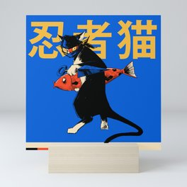 Neko Ninja Mini Art Print