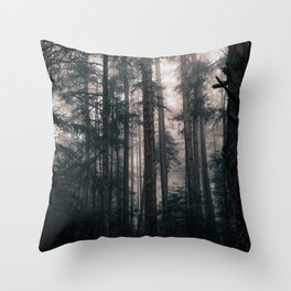 Ethereal Forest Throw Pillow