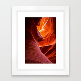SCULPTURE OF NATURE ANTELOPE CANYON ARIZONA PHOTOGRAPHY Framed Art Print