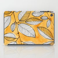 striped iPad Cases featuring Striped leaves by Marta Li