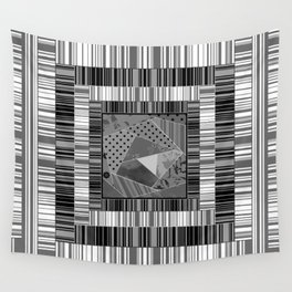 Abstract pattern . Patchwork striped . Wall Tapestry