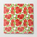 Red roses watercolor seamless pattern by katerinamitkova