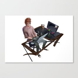 Hiccup_CatToothless Canvas Print
