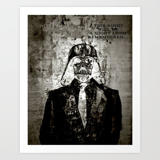 Unreal Party Darth Vader Art Print
