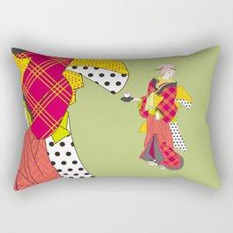 Japanese Bijin in a modern kimono Rectangular Pillow