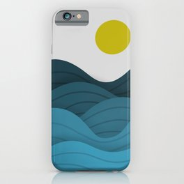Taro Patch Wavy Summer Blues iPhone Case