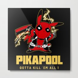 Pika cos poll Metal Print