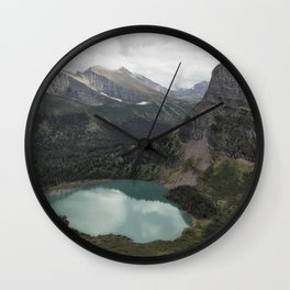 Grinnell Lake from the Trail No. 2 - Glacier NP Wall Clock