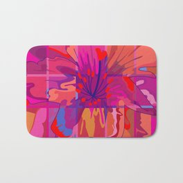 Abstract Flower in Cubes Bath Mat