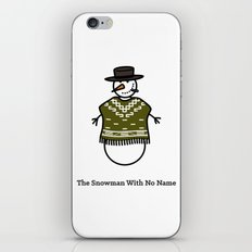 The Snowman With No Name iPhone Skin