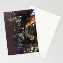 Montreal Skyline at Night Stationery Cards