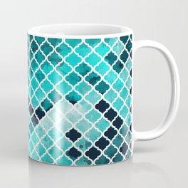Quatrefoil aqua Coffee Mug
