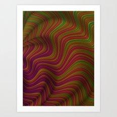 Wavy Waves Art Print