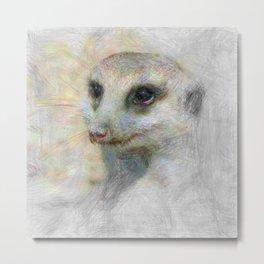 Artistic Animal Meerkat Metal Print