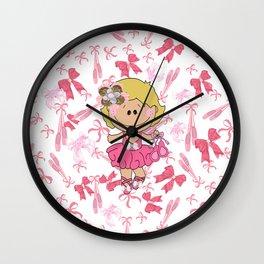 Ballerina Girl Wall Clock