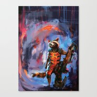 rocket raccoon Canvas Prints featuring Rocket by Wisesnail