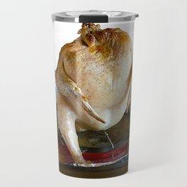 Roast chicken at grill on a tray Travel Mug