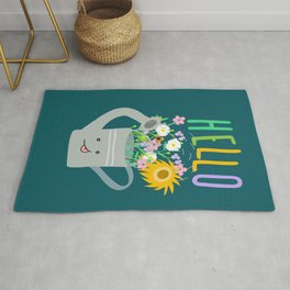 Happy Day- Watering Can Rug