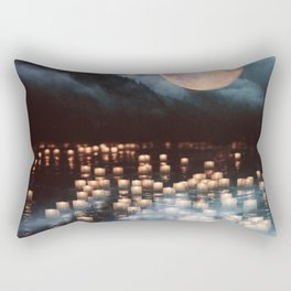 Fantasy lake with moonlight Rectangular Pillow