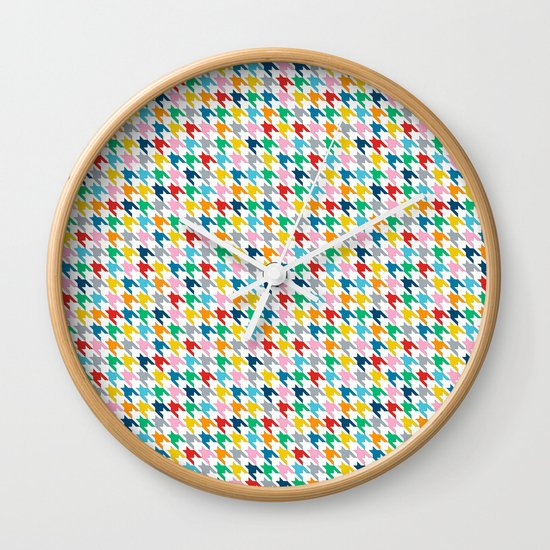 Puppytooth #2 Wall Clock