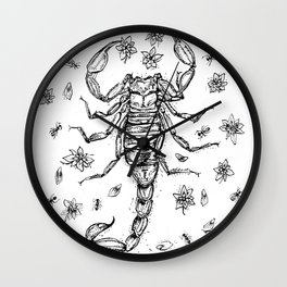 The Scorpion's Funeral Wall Clock