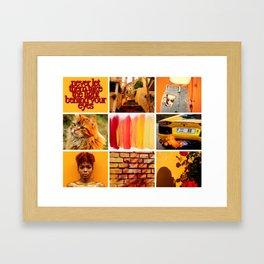Bold Orange Yellow Moodboard Framed Art Print