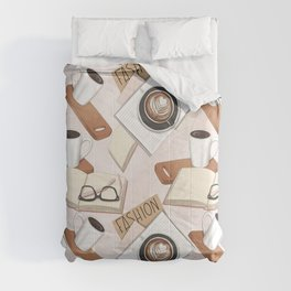 Office Coffee Designs Comforters