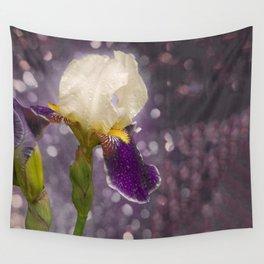 Rain drops Iris Wall Tapestry