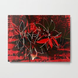 Weiße Blüten Metal Print