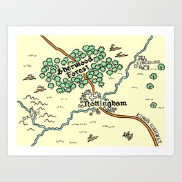 Sherwood Forest Art Print