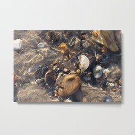 Pebbles in the Water Metal Print