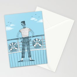 Sailor on deck Stationery Cards