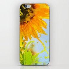 Splashing Sunflower iPhone & iPod Skin