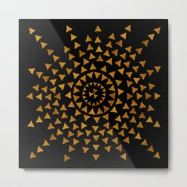 Dark Sun - Gold and Black Metal Print