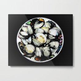 Bowl of Clams Metal Print