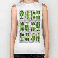 grass Biker Tanks featuring Grass by Yukska