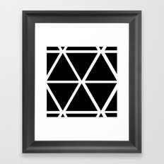 BLACK & WHITE TRIANGLES Framed Art Print