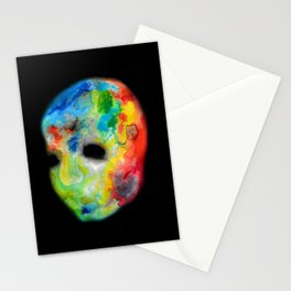 Colorful head. Stationery Cards