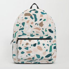 Terrazzo Turquoise Pattern Backpack