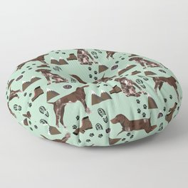 German Shorthair Pointer mountain hiking hiker outdoors camping dog breed Floor Pillow