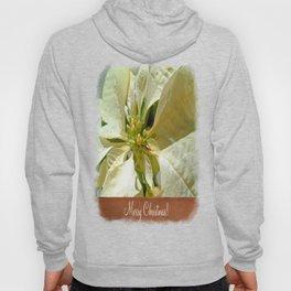 Pale Yellow Poinsettia 1 Merry Christmas S1F1 Hoody